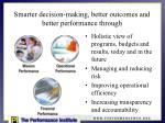 smarter decision making better outcomes and better performance through