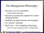 the management philosophy
