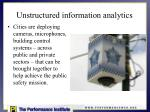 unstructured information analytics