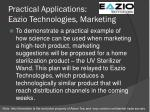 practical applications eazio technologies marketing
