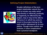 defining project stakeholders1
