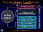 managing and engaging project stakeholders dimensions of complexity