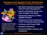 managing and engaging project stakeholders neglect in project management degree programs