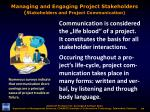 managing and engaging project stakeholders stakeholders and project communication