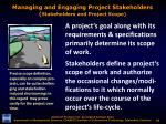 managing and engaging project stakeholders stakeholders and project scope