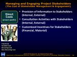 managing and engaging project stakeholders the cost of stakeholder management engagement4