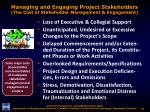 managing and engaging project stakeholders the cost of stakeholder management engagement5