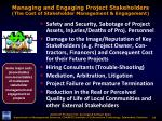 managing and engaging project stakeholders the cost of stakeholder management engagement6