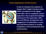 prime objectives of this course1