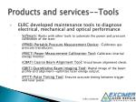 products and services tools
