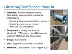 filtration disinfection phase iii