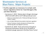 wastewater services at blue plains major projects
