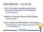 data release 11 21 13