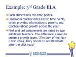 example 3 rd grade ela3