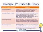 example 9 th grade us history1