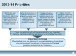 2013 14 priorities