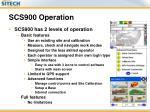 scs900 operation