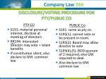 disclosure voting procedure for pty public co