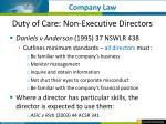 duty of care non executive directors