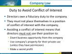 duty to avoid conflict of interest