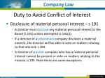 duty to avoid conflict of interest2