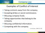 examples of conflict of interest