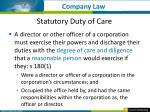 statutory duty of care