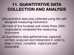 11 quantitative data collection and analysis