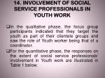 14 involvement of social service professionals in youth work