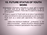 15 future status of youth work