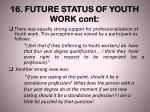 16 future status of youth work cont