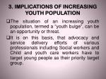 3 implications of increasing youth population