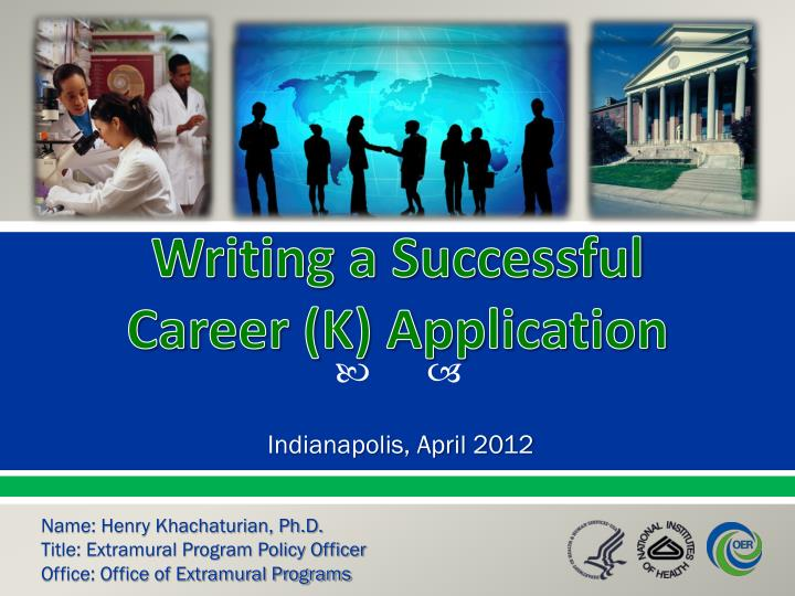 writing a successful career k application n.
