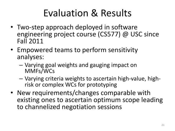 Evaluation & Results