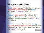 sample work goals