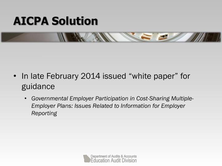 AICPA Solution