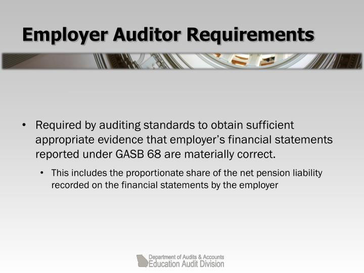 Employer Auditor Requirements