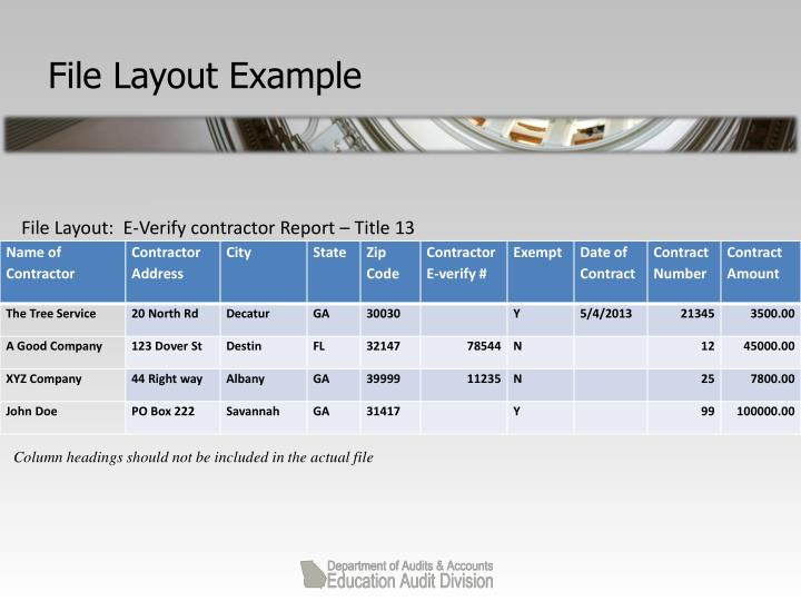 File Layout Example