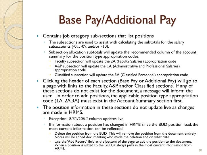 Base Pay/Additional Pay