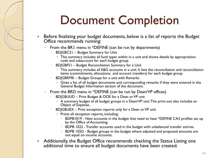 Document Completion