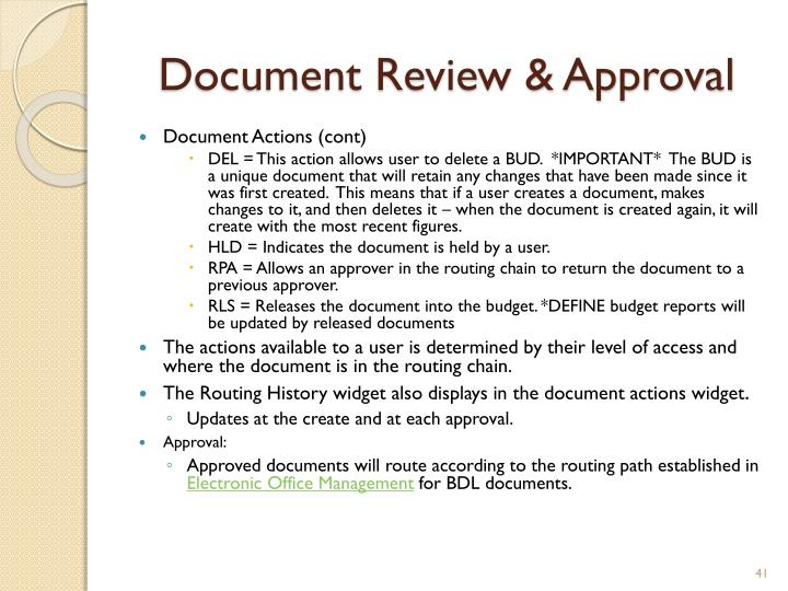 Document Review & Approval