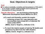 goal objectives targets