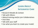 learn about integrated care