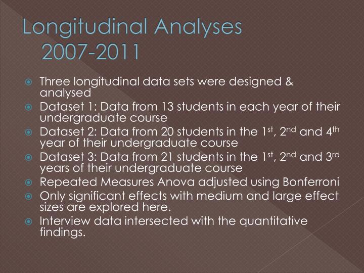Longitudinal Analyses