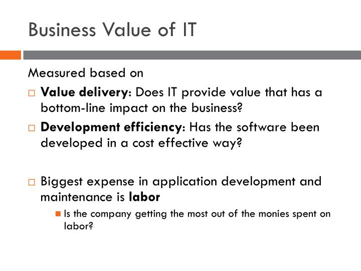 Business Value of IT