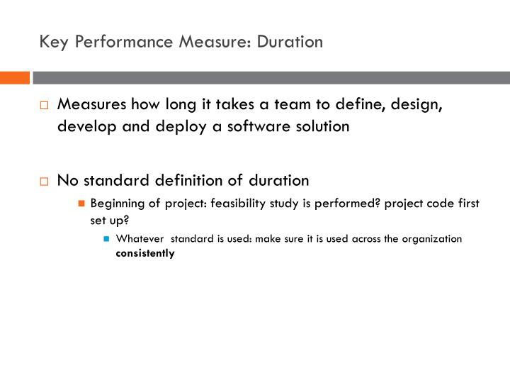Key Performance Measure: