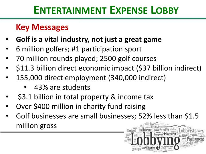 Entertainment Expense Lobby