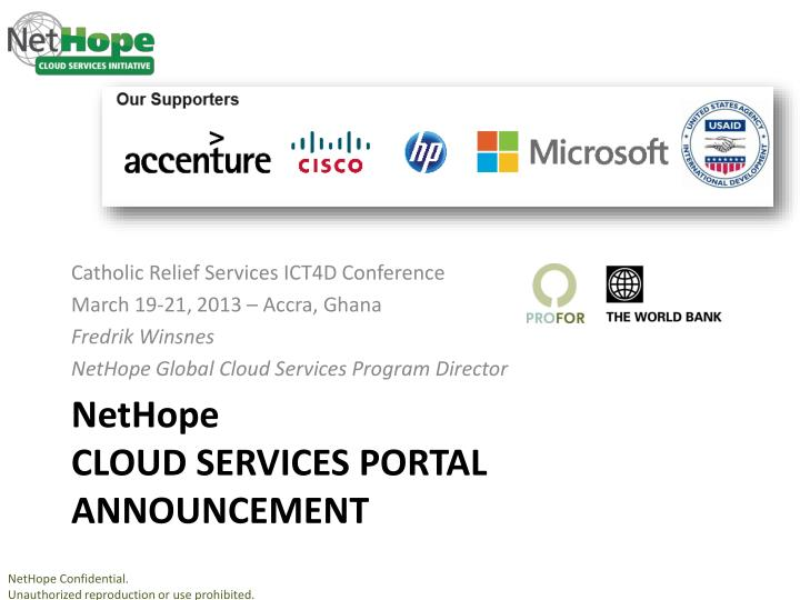 nethope cloud services portal announcement n.