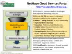 nethope cloud services portal http cloudportal nethope org
