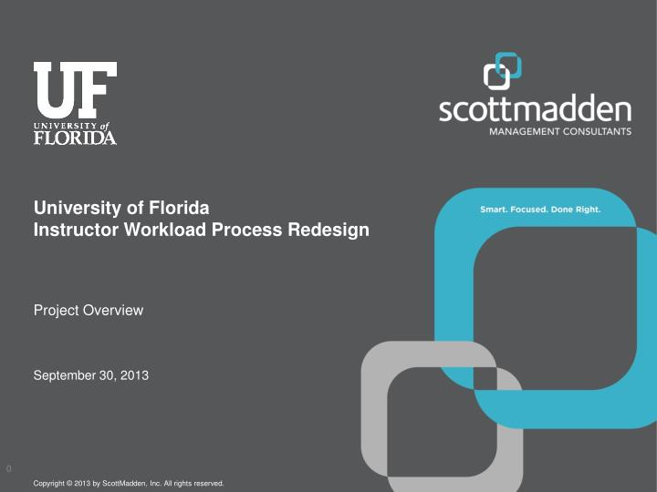 university of florida instructor workload process redesign n.